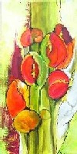 Helga Sachse, Sechs Blüten, Abstract art, Plants: Flowers, Modern Age