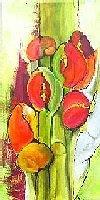 Helga-Sachse-Abstract-art-Plants-Flowers-Modern-Age-Modern-Age