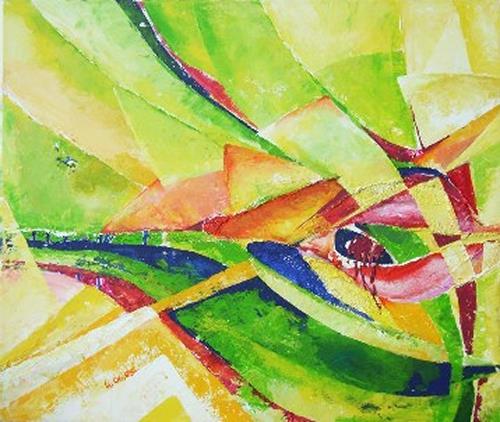 Helga Sachse, Verwoben, Abstract art, Plants: Flowers