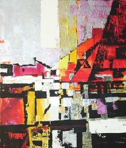 Helga Sachse, Sommerglut, Abstract art, Landscapes: Summer