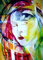 Helga-Sachse-Abstract-art-People-Faces-Modern-Age-Abstract-Art
