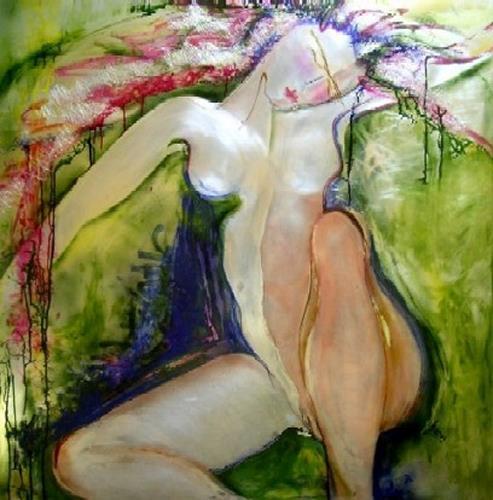 Helga Sachse, o.T., Erotic motifs: Female nudes, Erotic motifs: Female nudes, Contemporary Art, Expressionism