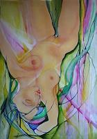 Helga-Sachse-Erotic-motifs-Female-nudes-People-Women-Modern-Age-Abstract-Art
