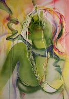 Helga-Sachse-Erotic-motifs-Female-nudes-People-Faces-Modern-Age-Abstract-Art