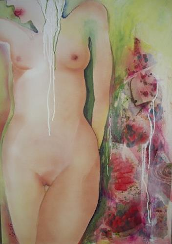 Helga Sachse, Parfait, Erotic motifs: Female nudes, Meal, Abstract Expressionism