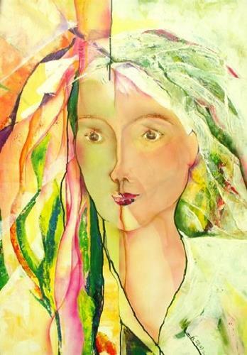Helga Sachse, Tagtraum, People: Women, People: Faces