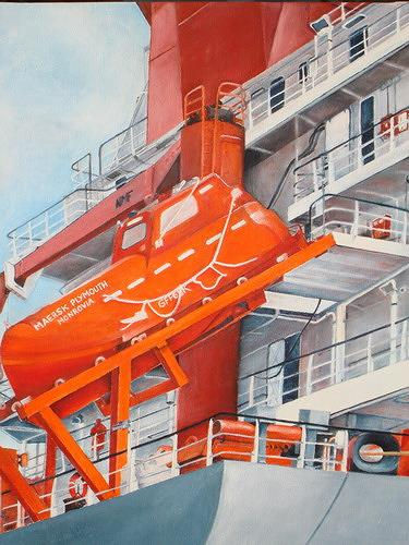 Beate Biebricher, Freifallrettungsboot, Industry  , Verkehr: Ship, Contemporary Art