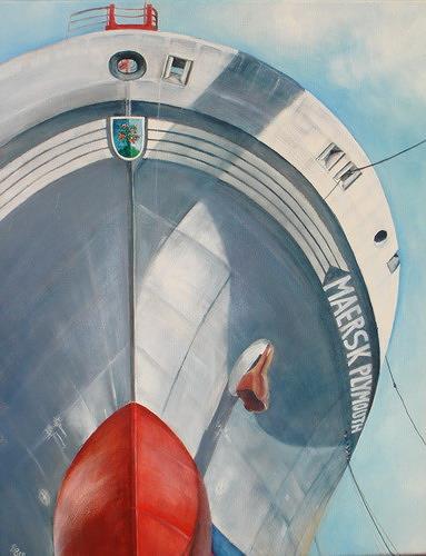 Beate Biebricher, Froschperspektive, Industry  , Verkehr: Ship, Contemporary Art