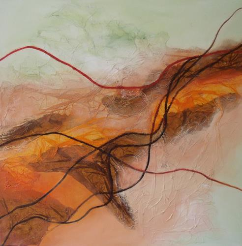 Beate Biebricher, Linienspiel, rechts, Abstract art, Movement, Contemporary Art, Expressionism