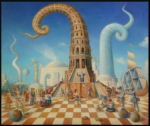 Cornelius Fraenkel, commedianti del mondo, Architecture, Burlesque, Post-Surrealism, Expressionism