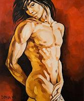 Bona-Erotic-motifs-Male-nudes-Miscellaneous-Erotic-motifs-Contemporary-Art-Neo-Expressionism