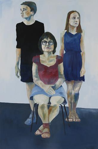Peter Schmitz, Familie 1, People: Families, People: Portraits, Realism, Expressionism