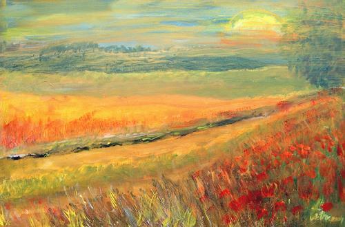 Agnes Vonhoegen, Sommerlandschaft, Landscapes: Summer, Nature: Earth, Contemporary Art