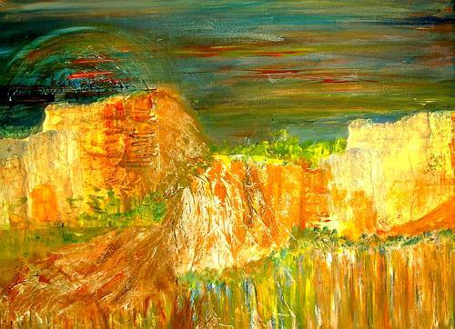Agnes Vonhoegen, Modern, Abstrakt, Abstract art, Landscapes: Mountains, Contemporary Art, Expressionism