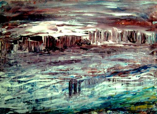 Agnes Vonhoegen, Abstrakte Landschaft, Abstract art, Fantasy, Contemporary Art