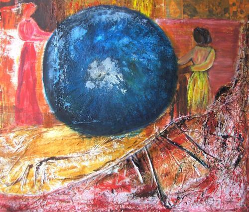 Agnes Vonhoegen, Gemeinsam für den Erhalt unseres Planeten, Nature: Earth, People: Group, Contemporary Art