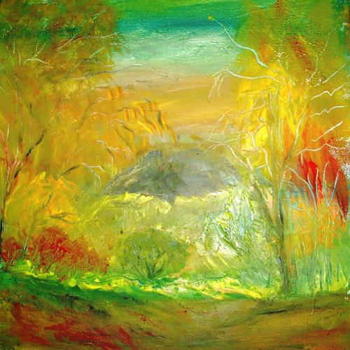 Agnes Vonhoegen, Landschaft, abstrakt, Nature: Earth, Fantasy, Contemporary Art, Expressionism