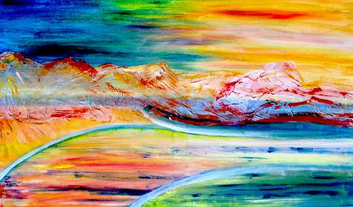Agnes Vonhoegen Art Abstract art Landscapes: Hills Contemporary Art