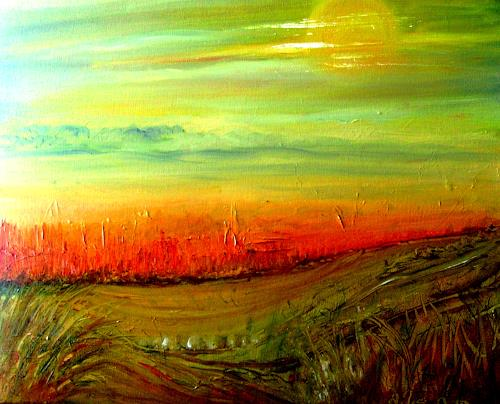 Agnes Vonhoegen, Fruchtbares Ackerland, Landscapes: Plains, Abstract art, Contemporary Art
