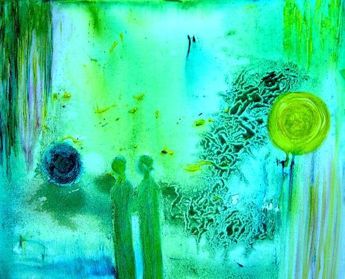 Agnes Vonhoegen, Auf dem Weg?, Abstract art, Emotions: Safety, Contemporary Art