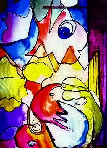 Agnes Vonhoegen, o.T., Abstract art, Movement, Contemporary Art