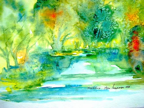 Agnes Vonhoegen Art Landscapes: Spring Abstract art Contemporary Art