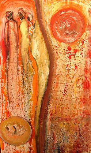 Agnes Vonhoegen, Auf dem richtigen Weg, Abstract art, People: Group, Contemporary Art