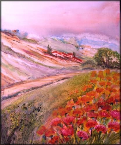 Agnes Vonhoegen, Toscana, Landscapes: Summer, Landscapes: Mountains, Contemporary Art