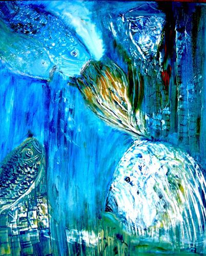 Agnes Vonhoegen, In Meerestiefen, Nature: Water, Fantasy, Contemporary Art