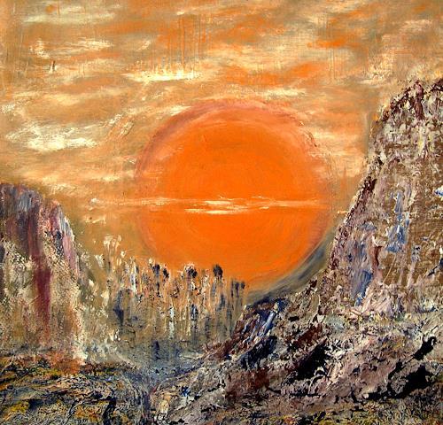 Agnes Vonhoegen, Die Sonne,die lebensspendende Kraft, Emotions: Safety, Abstract art, Contemporary Art, Expressionism