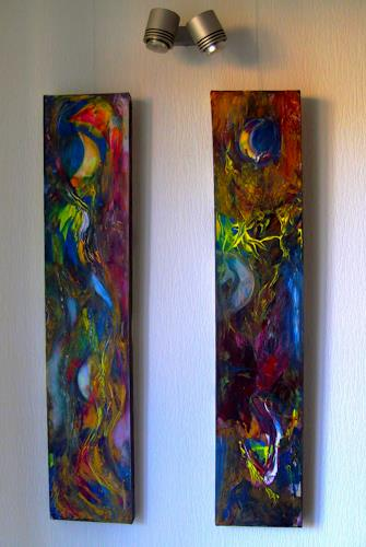 Agnes Vonhoegen, Aus meinen Träumen, Abstract art, Fantasy, Contemporary Art