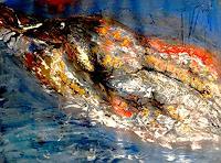 Agnes-Vonhoegen-Animals-Water-Nature-Modern-Age-Abstract-Art