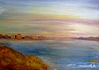 Agnes-Vonhoegen-Landscapes-Hills-Landscapes-Sea-Ocean-Contemporary-Art-Contemporary-Art