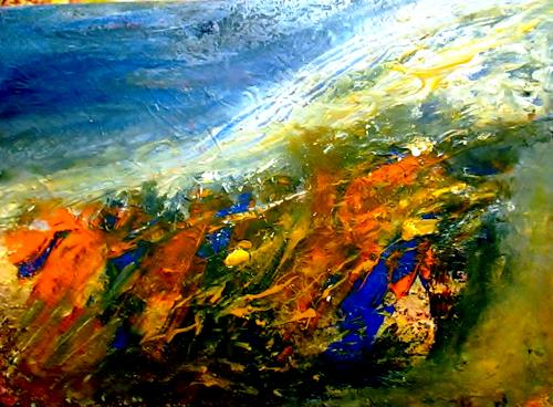 Agnes Vonhoegen, Küstenlandschaft, Decorative Art, Abstract art, Abstract Art, Expressionism