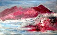 Agnes-Vonhoegen-Landscapes-Mountains-Nature-Rock-Modern-Age-Abstract-Art