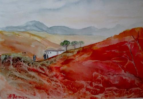 Agnes Vonhoegen, Toscana, Nature: Earth, Landscapes: Mountains, Contemporary Art