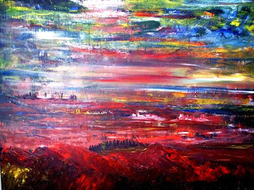 Agnes Vonhoegen, o. T., Landscapes, Landscapes: Summer, Contemporary Art, Abstract Expressionism