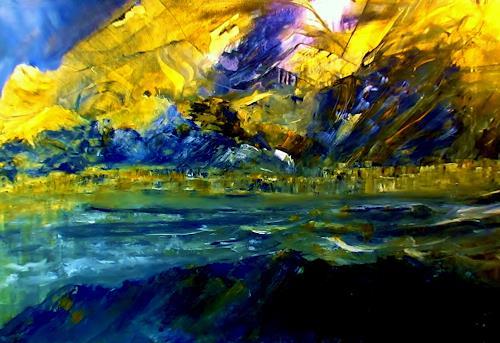 Agnes Vonhoegen, Landschaft im Sonnenlicht, Fantasy, Abstract Art, Abstract Expressionism