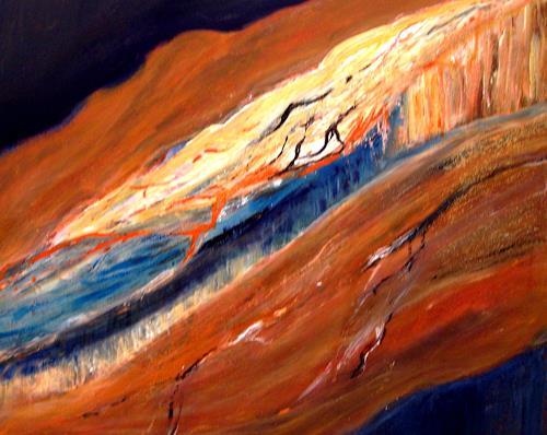 Agnes Vonhoegen, Geträumte Landschaft, Landscapes: Mountains, Landscapes: Sea/Ocean, Contemporary Art