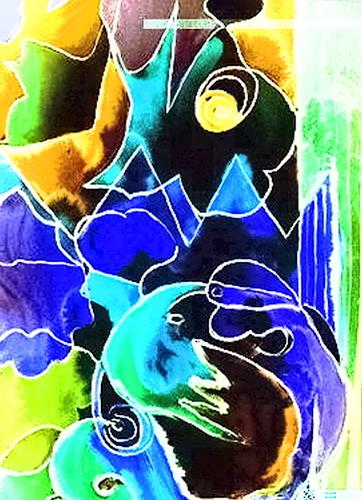 Agnes Vonhoegen, Phantasie, Abstract art, Action Painting