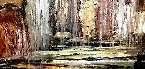 Agnes Vonhoegen, Wasserfall, Nature: Water, Movement, Contemporary Art