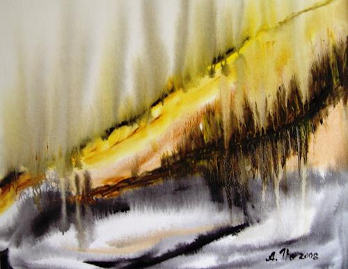 Agnes Vonhoegen, Landschaft, absrakt, Abstract art, Miscellaneous Landscapes, Contemporary Art