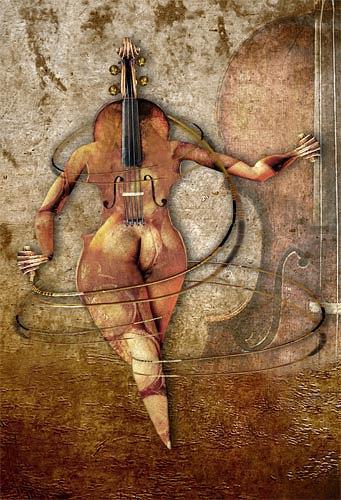 Pascale Turrek, die Violine, Miscellaneous, Fantasy, Surrealism
