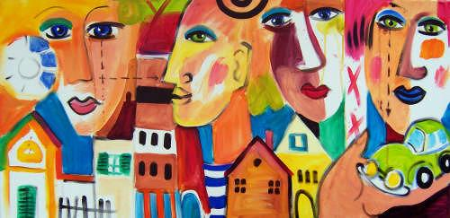 Leonore Zimmermann, my house..my car ..., Abstract art