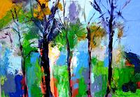 Leonore-Zimmermann-Miscellaneous-Landscapes-Modern-Age-Abstract-Art