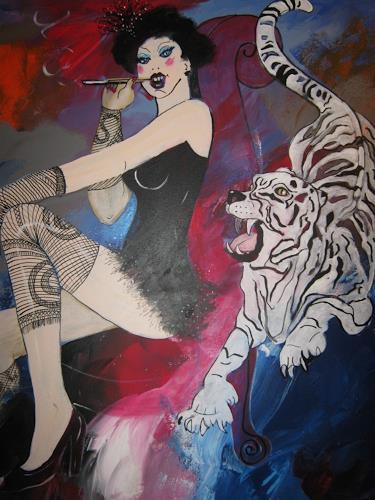 Leonore Zimmermann, I'm a tiger, People: Women, Miscellaneous Erotic motifs, Contemporary Art