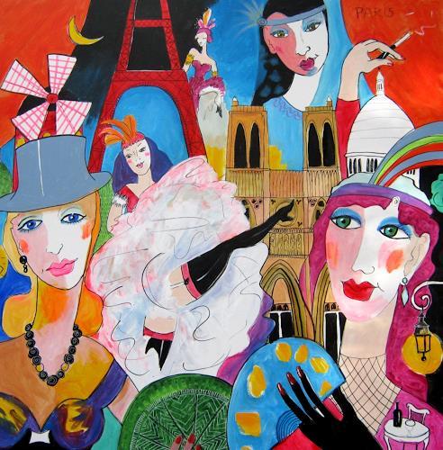 Leonore Zimmermann, Paris, Fantasy, Decorative Art, Pop-Art, Expressionism