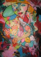 Leonore-Zimmermann-People-Faces-People-Women-Modern-Age-Pop-Art