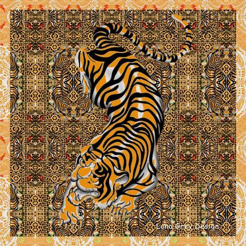 Leonore Zimmermann, I'm a tiger, Fantasy, Animals, Modern Age