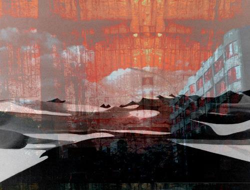 karl dieter schaller, fatamorgana day    townart, Miscellaneous, Contemporary Art
